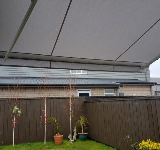retractable awning for garden