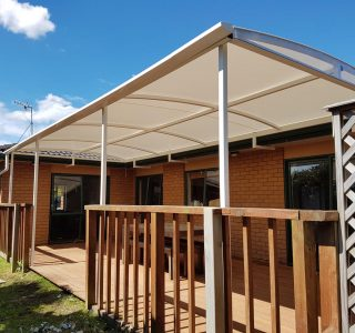 Tenstioned Membrane Structure deck cover