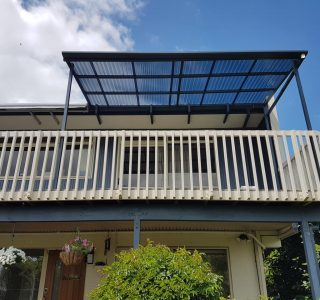 Polycarbonate Canopy over balcony