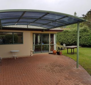 Polycarbonate Canopy over patio