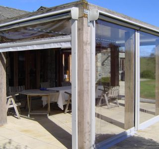 Crank Handle Drop Screens in PVC Residential Patio 1 320x300 - Home