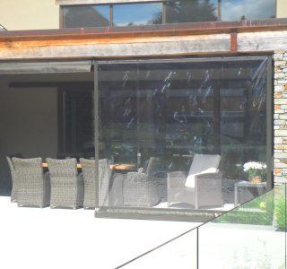Crank Handle Screens clear PVC Residential 23 320x300 - Fixed Panel Screens / Wind Break