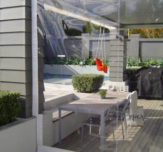 Crank Handle Screens clear PVC Residential 25 320x300 - Fixed Panel Screens / Wind Break