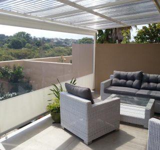 Crank Handle Screens clear PVC Residential 32 320x300 - Fixed Panel Screens / Wind Break