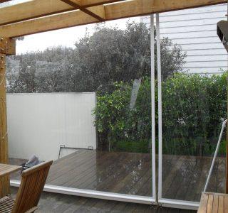 Crank Handle Screens clear PVC Residential 35 320x300 - Fixed Panel Screens / Wind Break