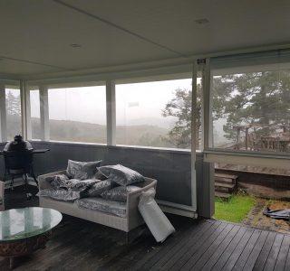 Crank Handle Screens mesh Residential 3 320x300 - Fixed Panel Screens / Wind Break