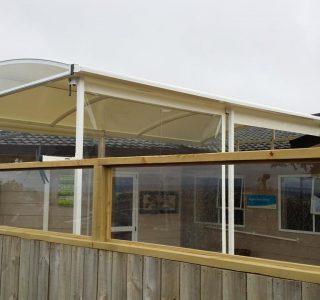 Crank Screens clear PVC Retirement Village 320x300 - Fixed Panel Screens / Wind Break