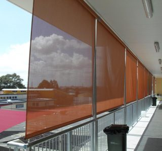 Crank Screens mesh Commercial Papatoetoe East school 320x300 - Roller Blinds / Outdoor Curtains - Ziptrak®
