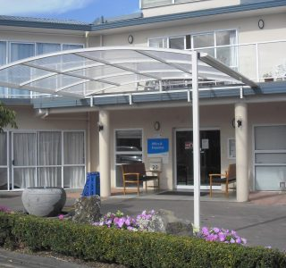 FFC Polycarbonate Commercial resthome Bupa 320x300 - Fixed Frame PVC Canopies (Tensioned Membrane Structure)