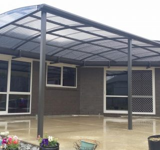 FFC Polycarbonate Residential 1 320x300 - Fixed Frame PVC Canopies (Tensioned Membrane Structure)