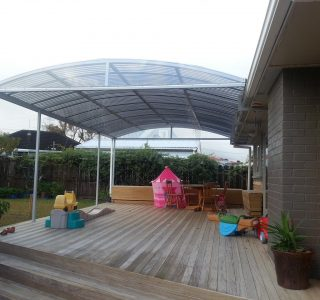 FFC Polycarbonate Residential 10 320x300 - Fixed Frame PVC Canopies (Tensioned Membrane Structure)
