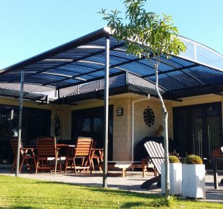 FFC Polycarbonate Residential 17 320x300 - Fixed Frame PVC Canopies (Tensioned Membrane Structure)