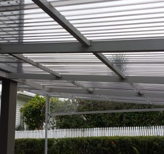 FFC Polycarbonate Residential 19 320x300 - Fixed Frame PVC Canopies (Tensioned Membrane Structure)