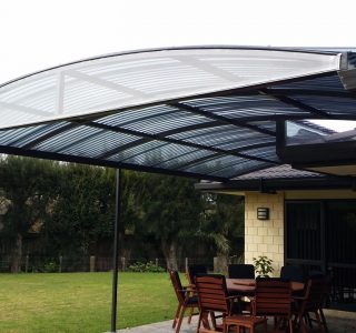 FFC Polycarbonate Residential 20 320x300 - Fixed Frame PVC Canopies (Tensioned Membrane Structure)
