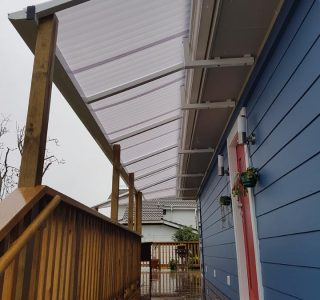 FFC Polycarbonate Residential 22 320x300 - Fixed Frame PVC Canopies (Tensioned Membrane Structure)