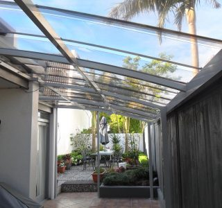 FFC Polycarbonate Residential 26 320x300 - Fixed Frame PVC Canopies (Tensioned Membrane Structure)
