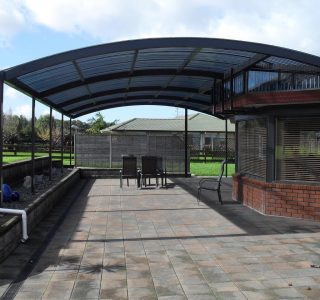 FFC Polycarbonate Residential 27 320x300 - Fixed Frame PVC Canopies (Tensioned Membrane Structure)