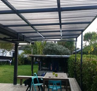 FFC Polycarbonate Residential 32 320x300 - Fixed Frame PVC Canopies (Tensioned Membrane Structure)