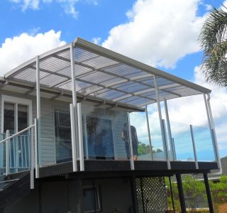 FFC Polycarbonate Residential 35 320x300 - Fixed Frame PVC Canopies (Tensioned Membrane Structure)