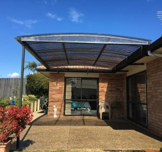 FFC Polycarbonate Residential 44 320x300 - Fixed Frame PVC Canopies (Tensioned Membrane Structure)