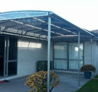 FFC Polycarbonate Residential 45 320x300 - Fixed Frame PVC Canopies (Tensioned Membrane Structure)