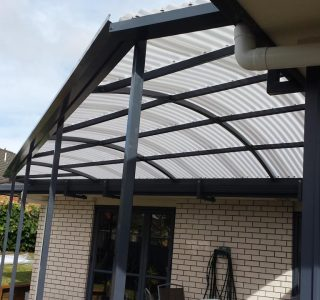 FFC Polycarbonate Residential 49 320x300 - Fixed Frame PVC Canopies (Tensioned Membrane Structure)