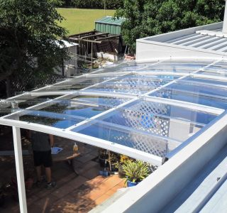 FFC Polycarbonate Residential 5 320x300 - Fixed Frame PVC Canopies (Tensioned Membrane Structure)