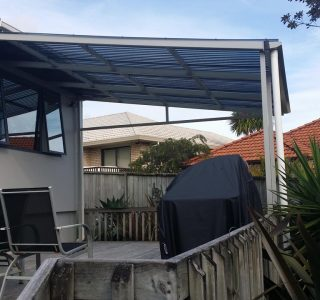 FFC Polycarbonate Residential 53 320x300 - Fixed Frame PVC Canopies (Tensioned Membrane Structure)