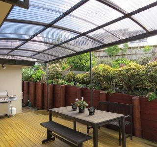 FFC Polycarbonate Residential 55 320x300 - Fixed Frame PVC Canopies (Tensioned Membrane Structure)