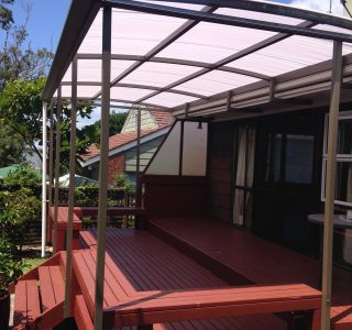 FFC Polycarbonate Residential 58 320x300 - Fixed Frame PVC Canopies (Tensioned Membrane Structure)