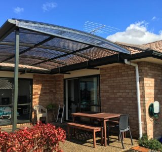 FFC Polycarbonate Residential 59 320x300 - Fixed Frame PVC Canopies (Tensioned Membrane Structure)