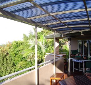 FFC Polycarbonate Residential 61 320x300 - Fixed Frame PVC Canopies (Tensioned Membrane Structure)