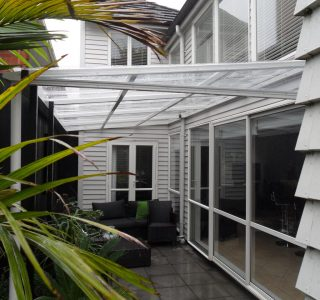 FFC Polycarbonate Residential 65 320x300 - Fixed Frame PVC Canopies (Tensioned Membrane Structure)