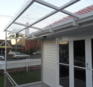 FFC Polycarbonate Residential 67 320x300 - Fixed Frame PVC Canopies (Tensioned Membrane Structure)