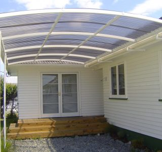 FFC Polycarbonate Residential 69 320x300 - Fixed Frame PVC Canopies (Tensioned Membrane Structure)