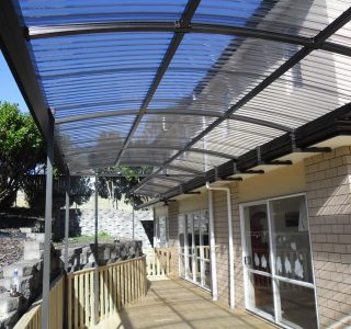 FFC Polycarbonate Residential 72 320x300 - Fixed Frame PVC Canopies (Tensioned Membrane Structure)