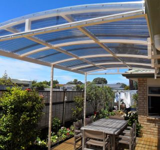 FFC Polycarbonate Residential 78 320x300 - Fixed Frame PVC Canopies (Tensioned Membrane Structure)