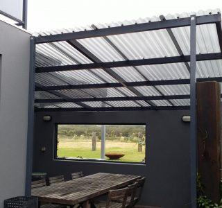 FFC Polycarbonate Residential 81 320x300 - Fixed Frame PVC Canopies (Tensioned Membrane Structure)