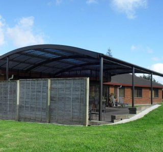 FFC Polycarbonate Residential 82 320x300 - Fixed Frame PVC Canopies (Tensioned Membrane Structure)