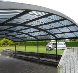 FFC Polycarbonate Residential 84 320x300 - Fixed Frame PVC Canopies (Tensioned Membrane Structure)