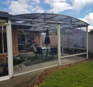 Fixed Frame Canopy and Screens Residential 2 320x300 - Fixed Panel Screens / Wind Break