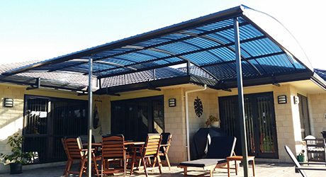 Fixed Frame Polycarbonate Roof Canopy