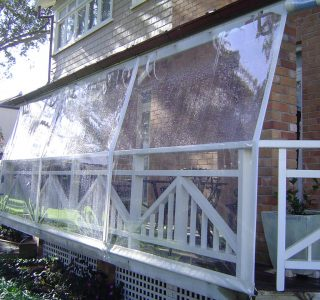 Hand Rolled Screens clear PVC Residential 27 320x300 - Crank Screens / Roller Blinds / Outdoor Curtains