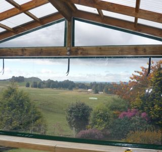 Hand Rolled Screens clear PVC Residential 32 320x300 - Crank Screens / Roller Blinds / Outdoor Curtains
