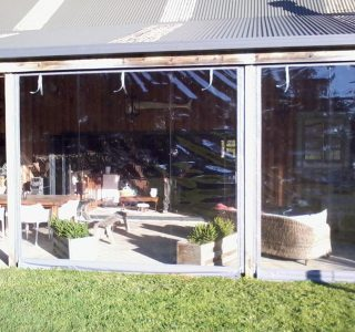 Hand Rolled Screens clear PVC Residential 33 320x300 - Crank Screens / Roller Blinds / Outdoor Curtains