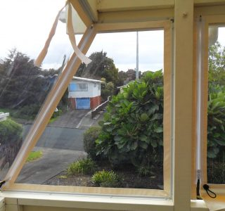 Hand Rolled Screens clear PVC Residential 36 320x300 - Crank Screens / Roller Blinds / Outdoor Curtains