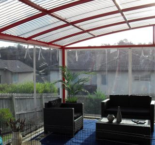 Hand Rolled Screens clear PVC Residential 45 320x300 - Fixed Panel Screens / Wind Break