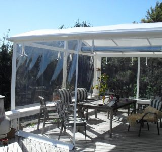 Hand Rolled Screens clear PVC Residential 49 320x300 - Roller Blinds / Outdoor Curtains - Ziptrak®