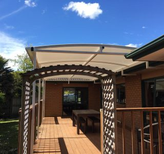 TMS 320x300 - Fixed Frame PVC Canopies (Tensioned Membrane Structure)