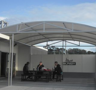 TMS Canopy Commercial AJ Hackett 320x300 - Fixed Frame PVC Canopies (Tensioned Membrane Structure)